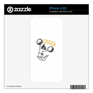 Cheer Decals For iPhone 4S