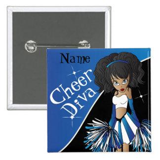 Cheer Diva Cheerleader Girl | DIY  Name | Blue Button
