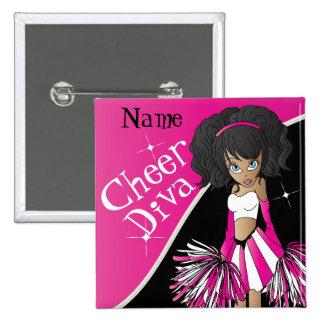 Cheer Diva Girl Cheerleader in Pink Button