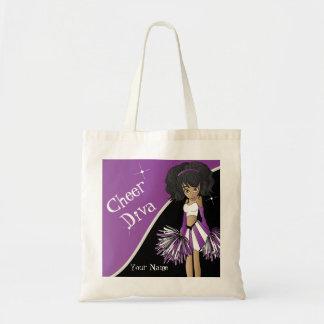 Cheer Diva Purple Cheerleader Tote Bags
