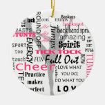 Cheer Double-Sided Ceramic Round Christmas Ornament
