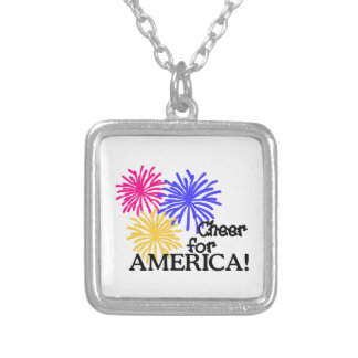 Cheer For America! Silver Plated Necklace