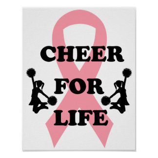 Cheer for Life Breast Cancer Poster