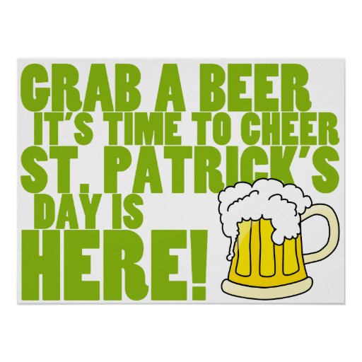 Cheer for St. Patrick's Day Poster