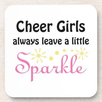 Cheer Girls Leave Sparkle Beverage Coaster