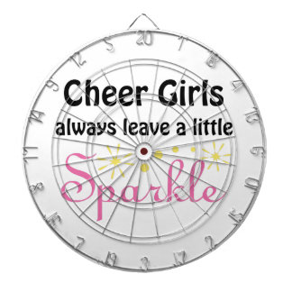 Cheer Girls Leave Sparkle Dartboard