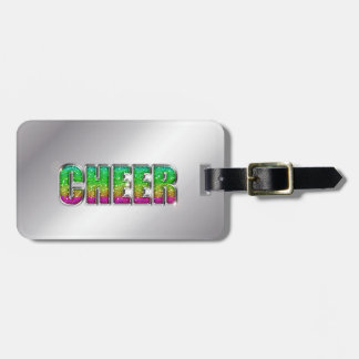 Cheer Glitter Rainbow Tag For Bags