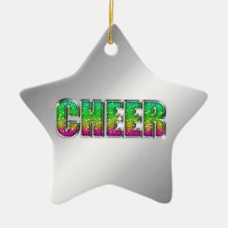 Cheer Glitter Rainbow Christmas Ornament