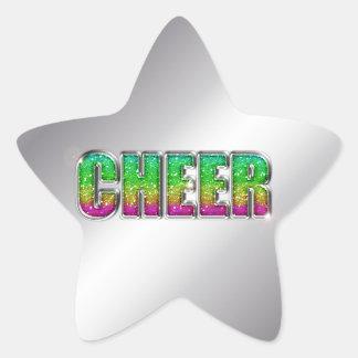 Cheer Glitter Rainbow Star Sticker