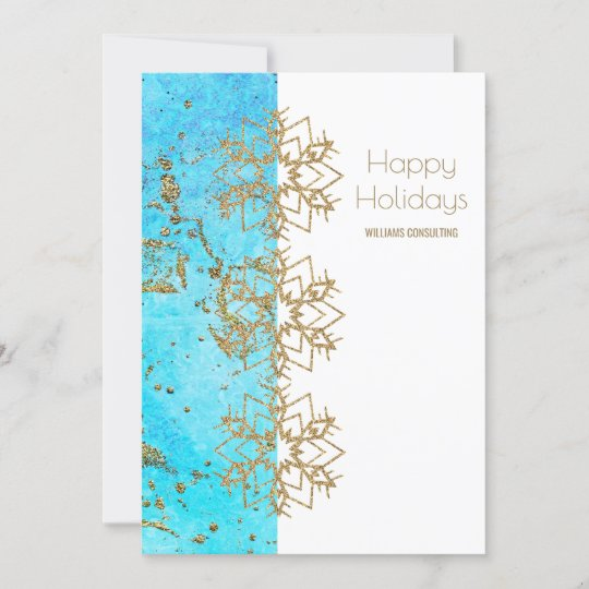 Cheer Gold And Watercolor Company Christmas Thank You Card Zazzle Com