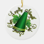 Cheer Green and Yellow Doubled-Sided Ornament