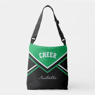 Cheer Green Cheerleader Outfit Crossbody Bag