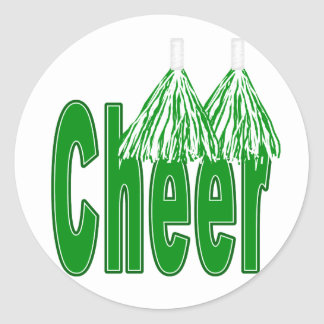Cheer Green Stickers