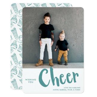 Cheer   Holiday Photo Card   Aqua