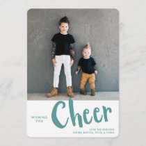 Cheer | Holiday Photo Card | Aqua