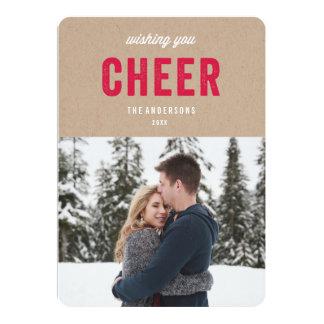 "Cheer   Holiday Photo Card 5"" X 7"" Invitation Card"