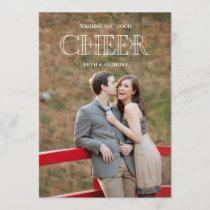 CHEER Holiday Photo Card - White