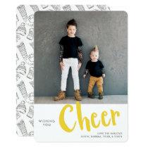 Cheer | Holiday Photo Card | Yellow
