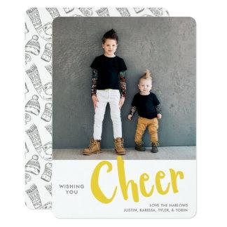 Cheer   Holiday Photo Card   Yellow