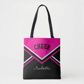 Cheer Hot Pink Cheerleader Outfit Tote Bag