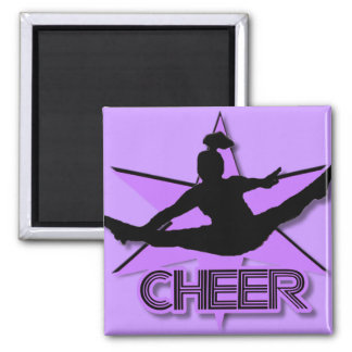 Cheer in purple magnet
