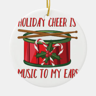 Cheer Is Music Ceramic Ornament
