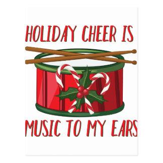Cheer Is Music Postcard