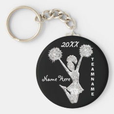 Cheer Keychains Personalized Your Text And Colors at Zazzle