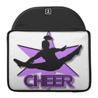 Cheer leader in purple sleeve for MacBook pro