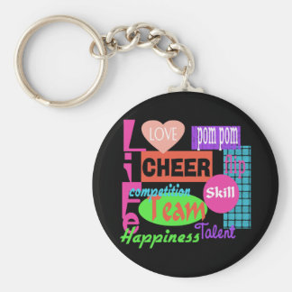 Cheer Life Basic Round Button Keychain