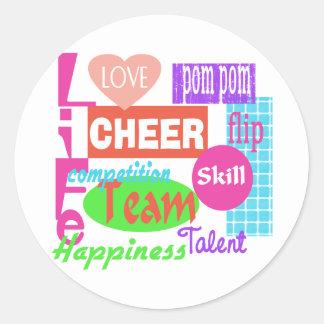 Cheer Life Classic Round Sticker