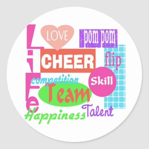 Cheer Life Round Stickers