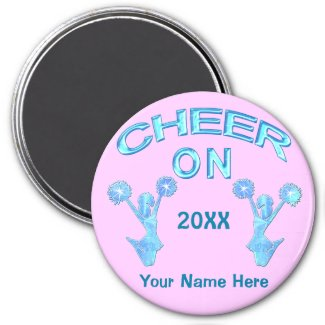 Cheer Magnets Personalized with YEAR and NAME