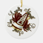 Cheer Maroon and Gold Doubled-Sided Ornament
