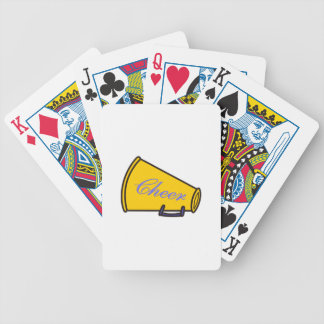 Cheer Megaphone Bicycle Playing Cards