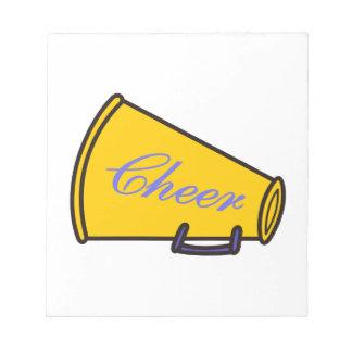 Cheer Megaphone Note Pad