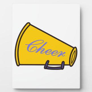 Cheer Megaphone Plaque
