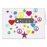 Cheer Mixed Graphics Greeting Card