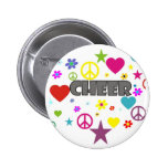 Cheer Mixed Graphics Pinback Buttons