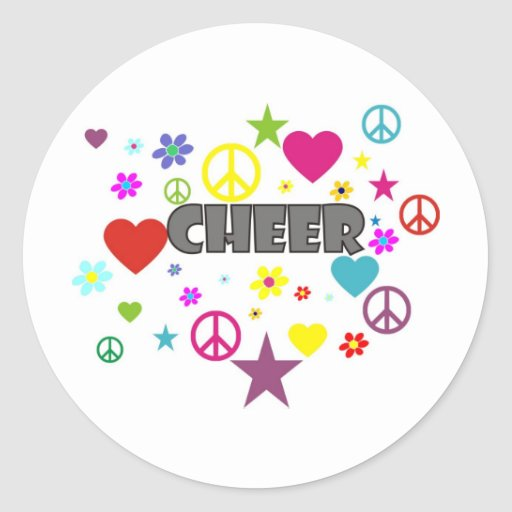 Cheer Mixed Graphics Stickers