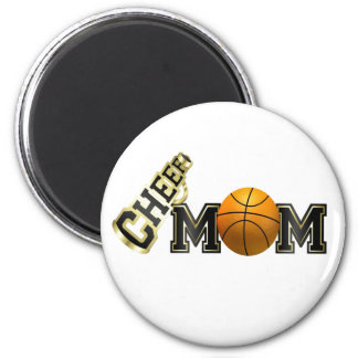 Cheer Mom (basketball) 2 Inch Round Magnet