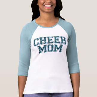 Cheer Mom Blue Glitter T-Shirt