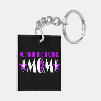 Cheer Mom Double-sided Keychain