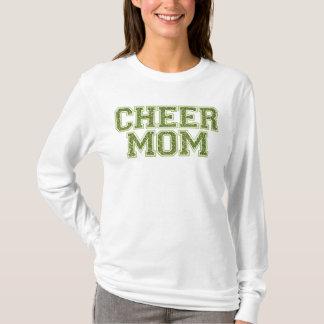Cheer Mom Green Glitter T-Shirt
