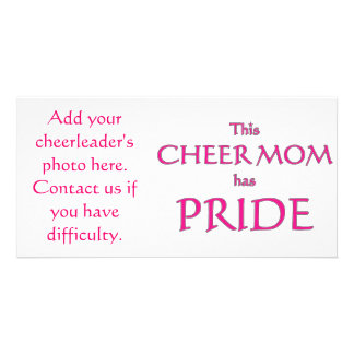 Cheer mom has pride! Proud cheer mom Card