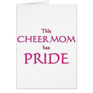 Cheer mom has pride! Proud cheer mom Greeting Card