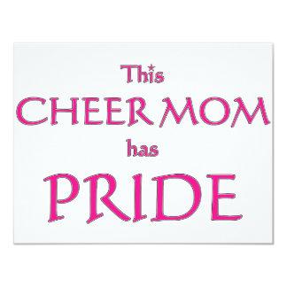 Cheer mom has pride! Proud cheer mom Custom Announcement