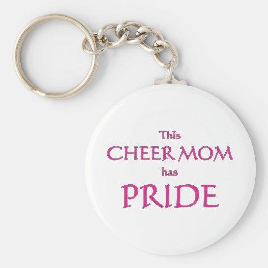Cheer mom has pride! Proud cheer mom Keychain