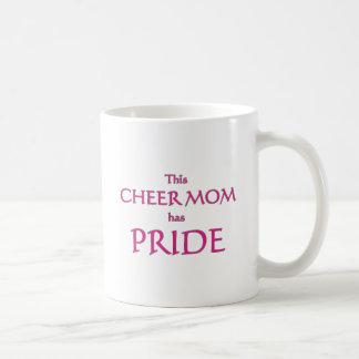 Cheer mom has pride! Proud cheer mom Coffee Mugs