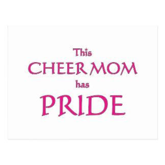 Cheer mom has pride! Proud cheer mom Postcard